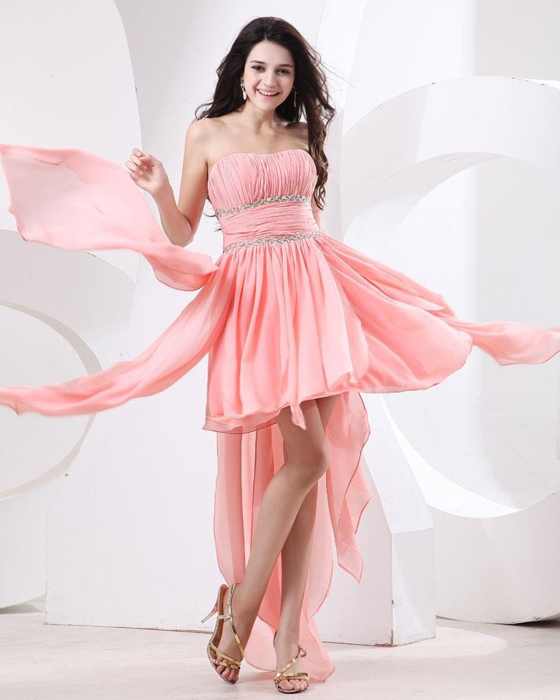 Chiffon Ruffle Layered Cocktail Dresses