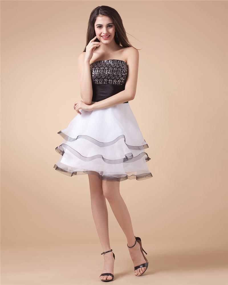 Yarn Applique Sweetheart Knee Length Cocktail Dresses