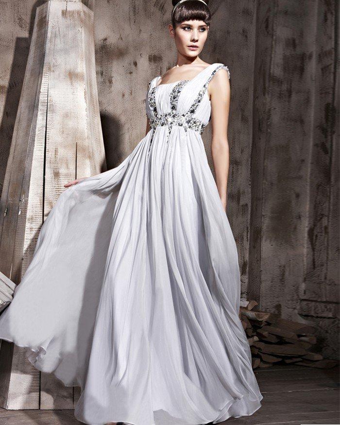 Floor Length Tencel Sleeveless Shoulder Strap Zipper Evening Dresses