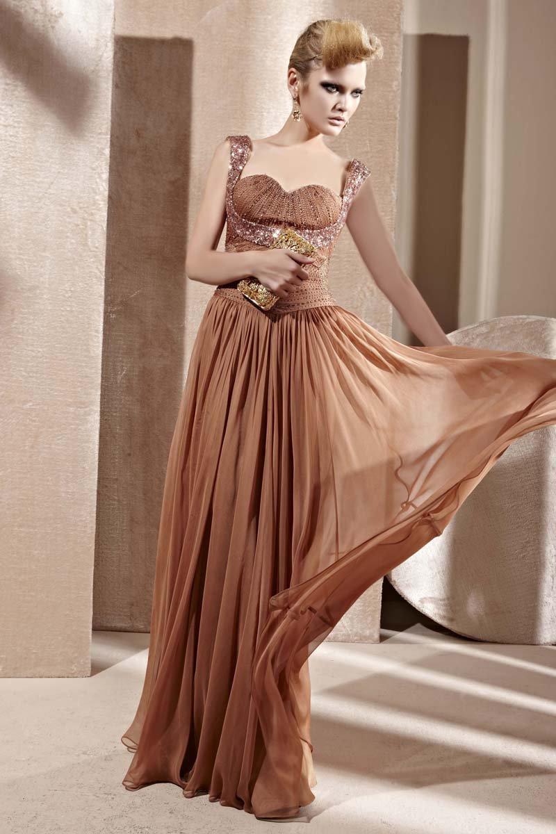 Sweetheart Beading Ruffle Sleeveless Zipper Floor Length Charmeuse Woman Evening Dress