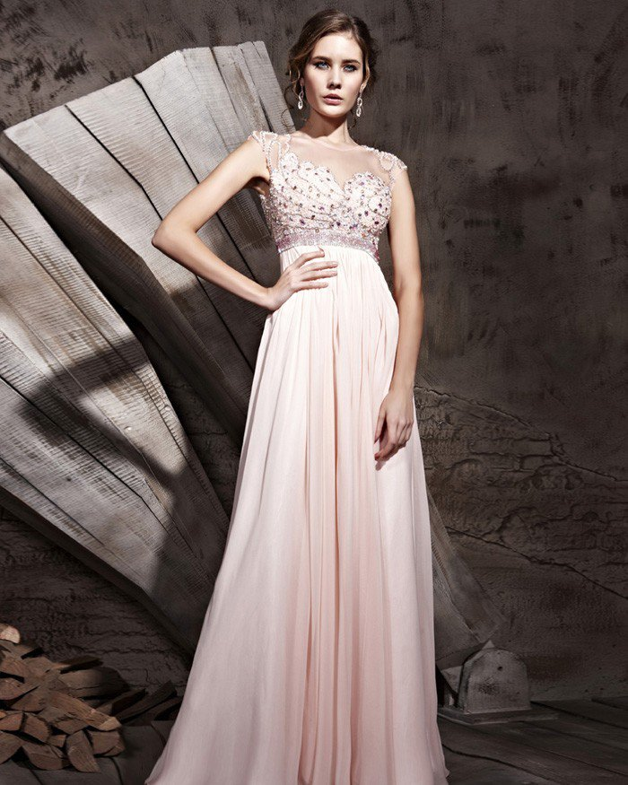 Tencel Charmeuse Tulle Lady Sleeveless Evening Dresses