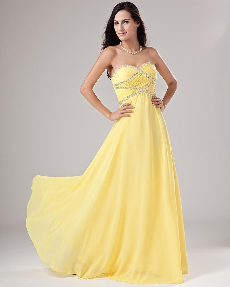 Elegant Chiffon Applique Ruffle Beading Evening Dresses