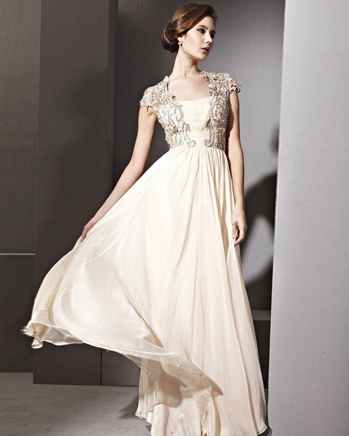 Floor Length Lace Tencel Sabrina Sleeveless Evening Dresses