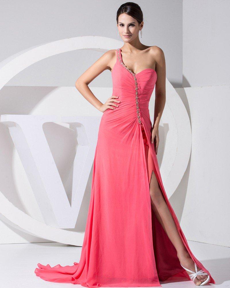 Stylish Solid Elastic Silk Like Satin Chiffon Silk Slopping Beading Sleeveless Backless Ruffle Court