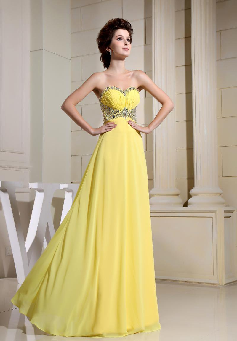 Strapless Sleeveless Zipper Floor Length Beading Chiffon Elastic Silk Like Satin Silk Woman Evening