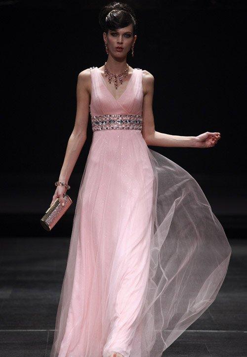 Beading V-Neck A-line Floor Length Women's Evening Dresses