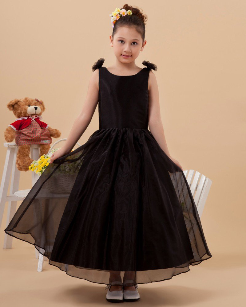 Organza Satin Ball Gown Handmade Flower Girl Dresses 2214120041