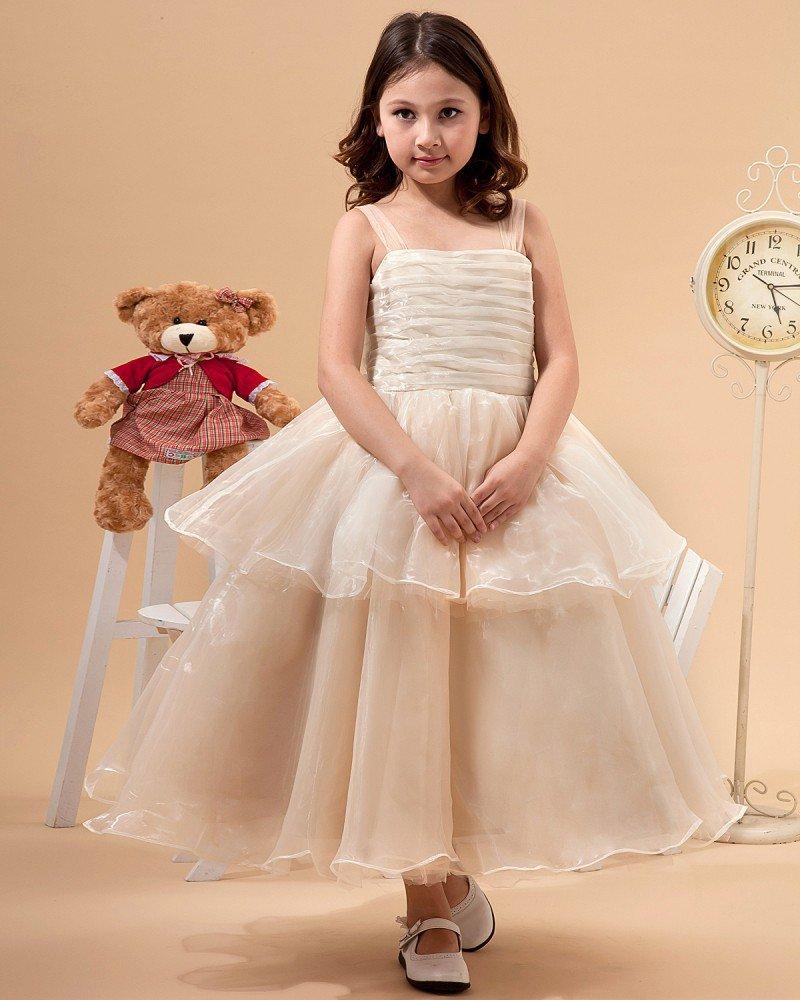 Tulle Hand Flower Ruffle Flower Girl Dresses 2214120077
