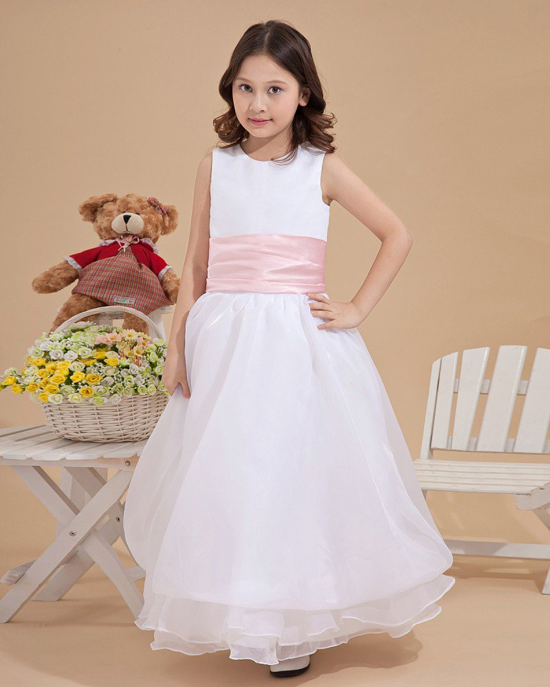 Yarn Round Collar Flower Girl Dresses 2214120080