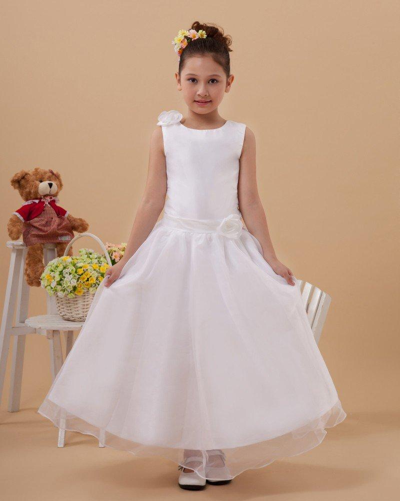 Satin Organza Handmade Flower Girl Dresses 2214120061