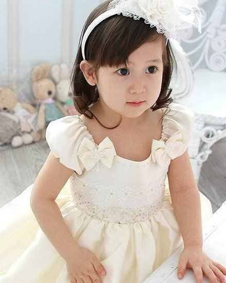 Lace Bowknot Sequin Flower Girls Dress 2214120033