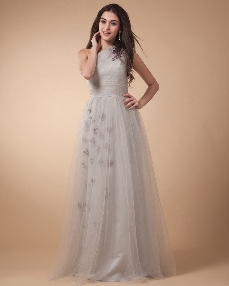 Sweetheart Ruffle Beading Satin Tulle Beaded Floor Length Evening Party Dresses