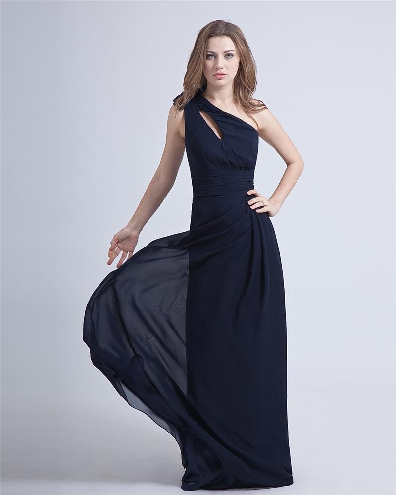 Elegant Charming One-Shoulder Chiffon Evening Party Dress