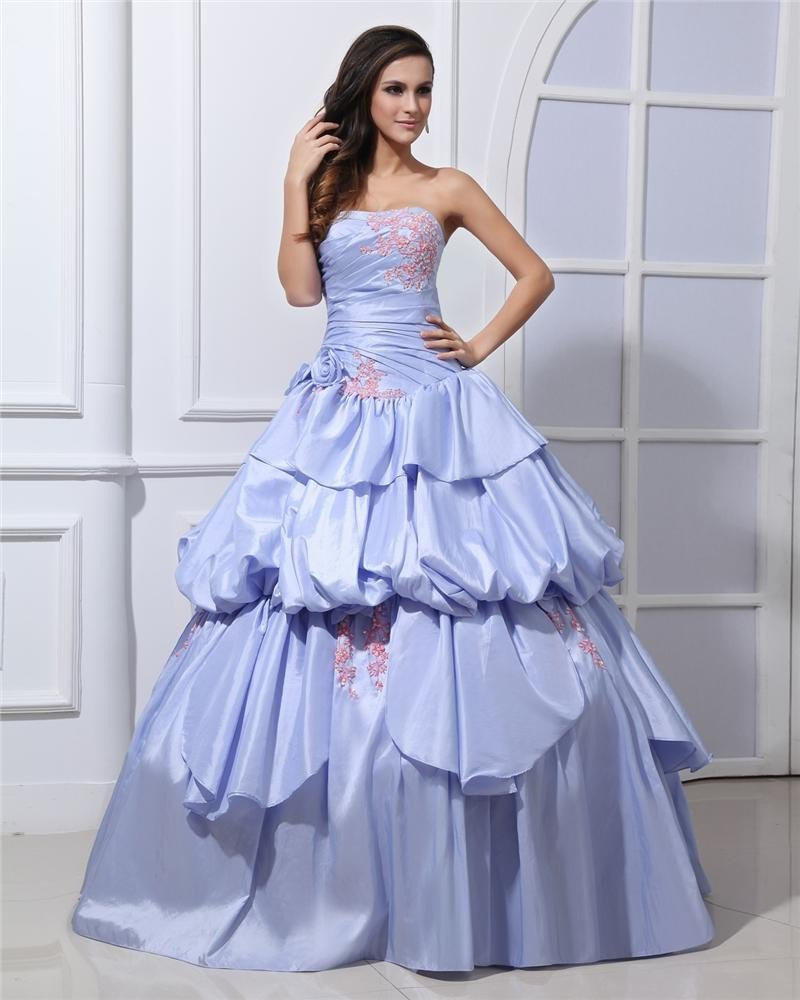 Ball Gown Charming Wrinkle Strapless Quinceanera Prom Dresses