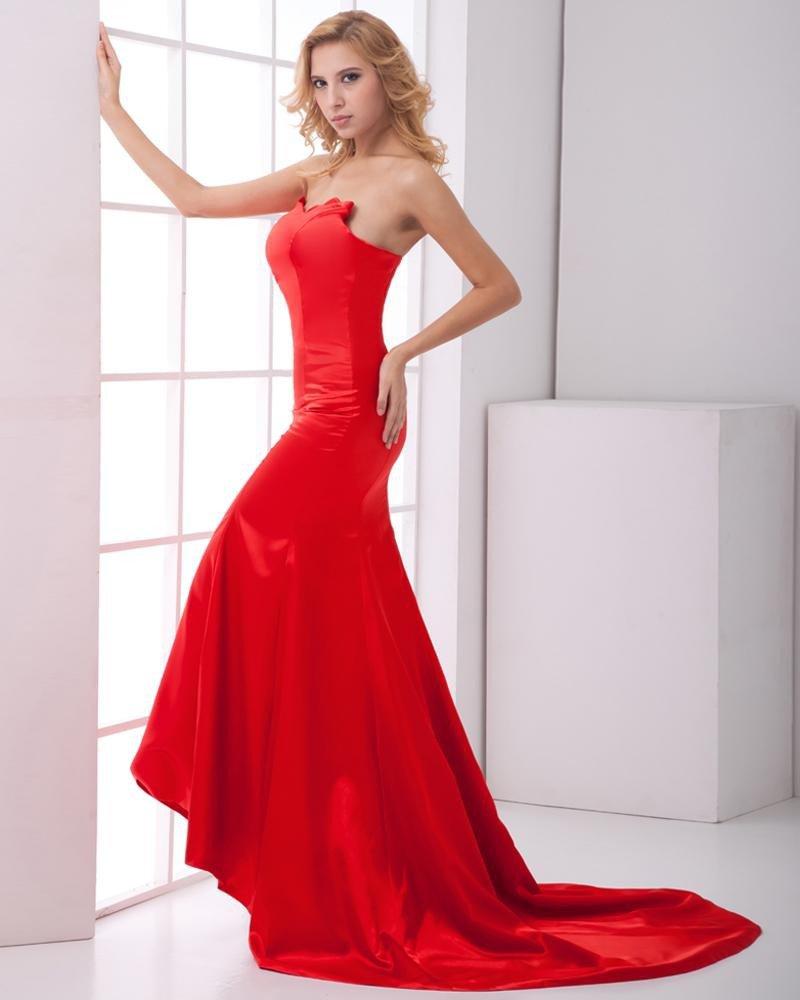 Fashion Charmeuse Sweetheart Sleeveless Back Zipper Floor Length Prom Dress