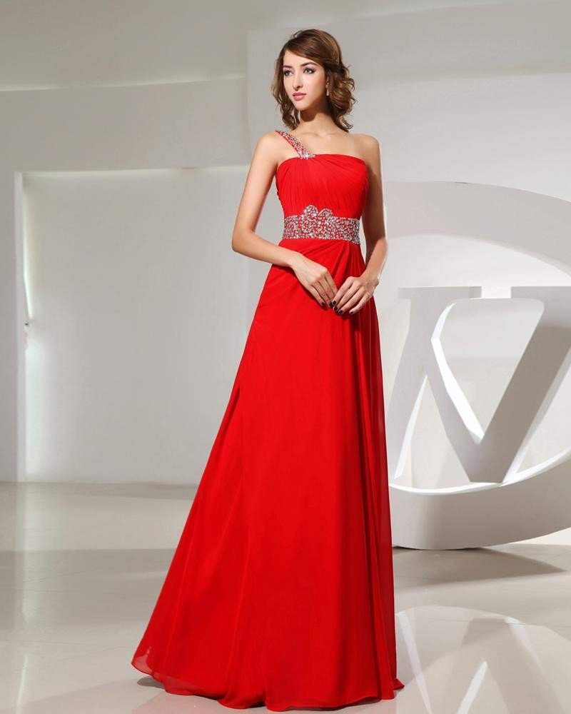 Strapless Waist Beading Back Belt Sleeveless Floor Length Chiffon Elastic Silk Like Satin Silk Woman