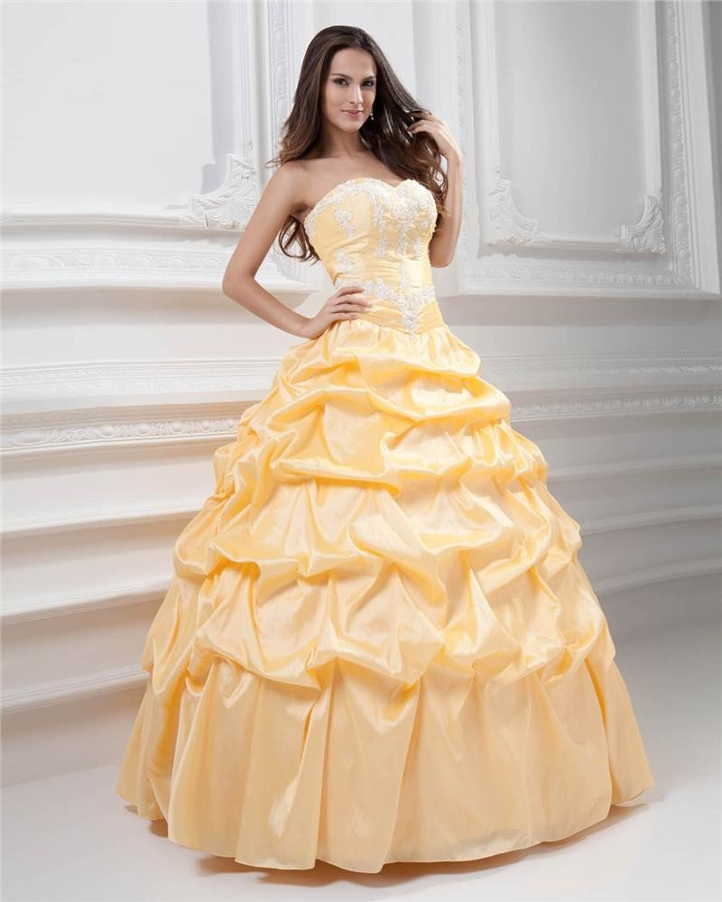 Ball Gown Beautiful A-line Sweetheart Satin Beading Quinceanera Prom Dresses
