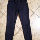 7 For All Mankind Women's Black Suede Stretch Legging Pants Slim Skinny Sz 27