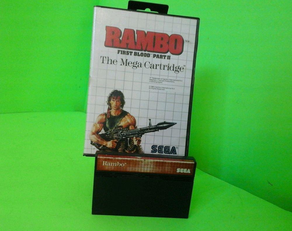 +++ RAMBO FIRST BLOOD PART II 2 Sega Master SMS Game w/ CASE! +++