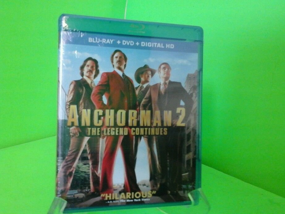Anchorman 2: The Legend Continues (Blu-ray/DVD, 2014, 2-Disc Set) NEW Sealed