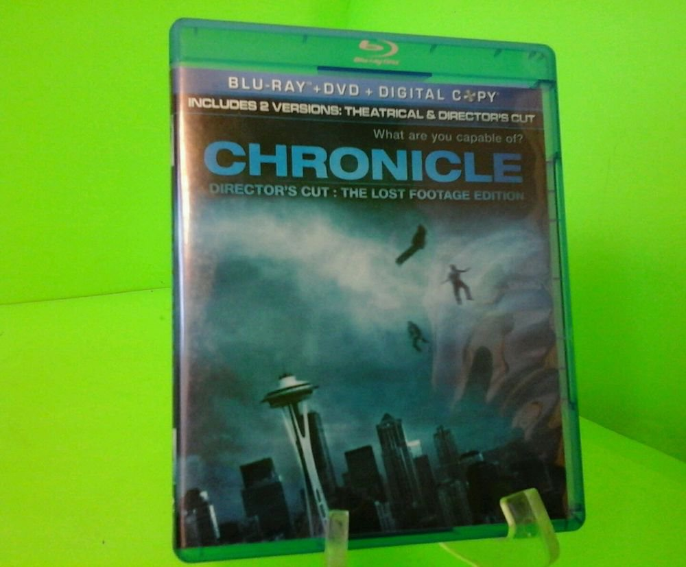 Chronicle Blu-ray/DVD, 2012, 2-Disc Set Lost Footage Edition FAST FREE SHIPPING