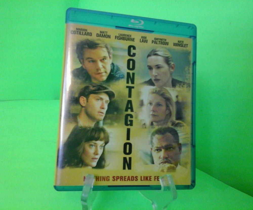Contagion Blu-ray/DVD 2-Disc Set Digital Copy UltraViolet FAST FREE SHIPPING