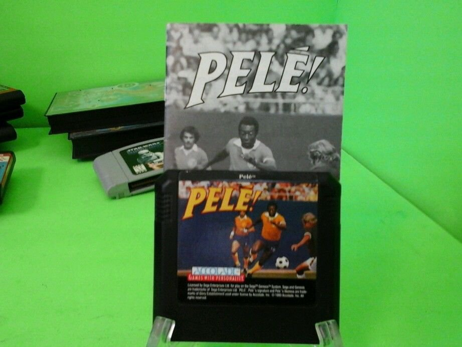 Pele! TESTED SOCCER GAME (Sega Genesis, 1994) SG FIFA with book