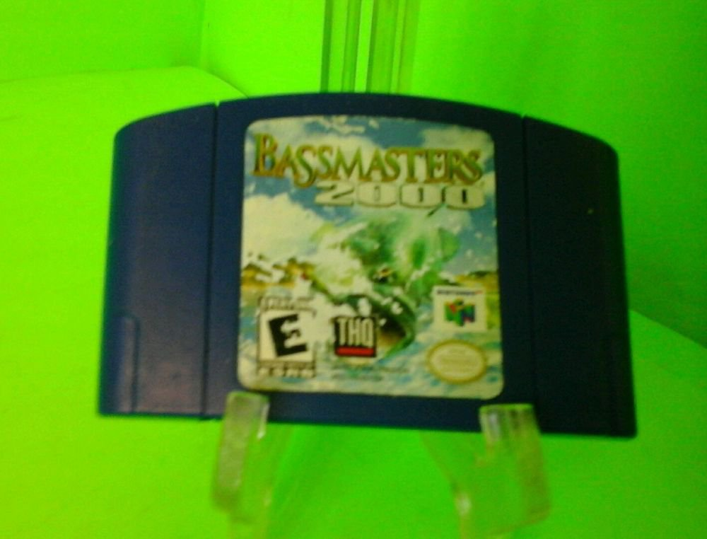 Nintendo 64 N64 Bass Masters 2000 Video Game TESED WORKS FAST FREE SHIPPING