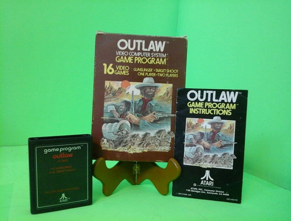 Vintage Boxed Atari 2600 game Outlaw Tested & Working COMPLETE FREE SHIPPING