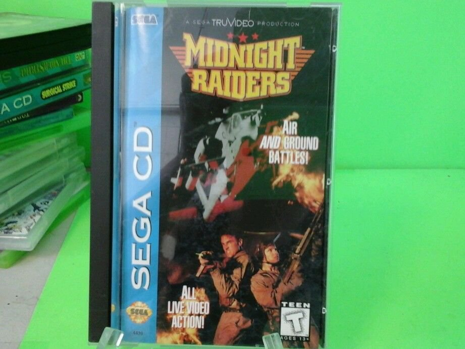 Midnight Raiders  (Sega CD, 1994) Complete. Disk in Very Good Condition!