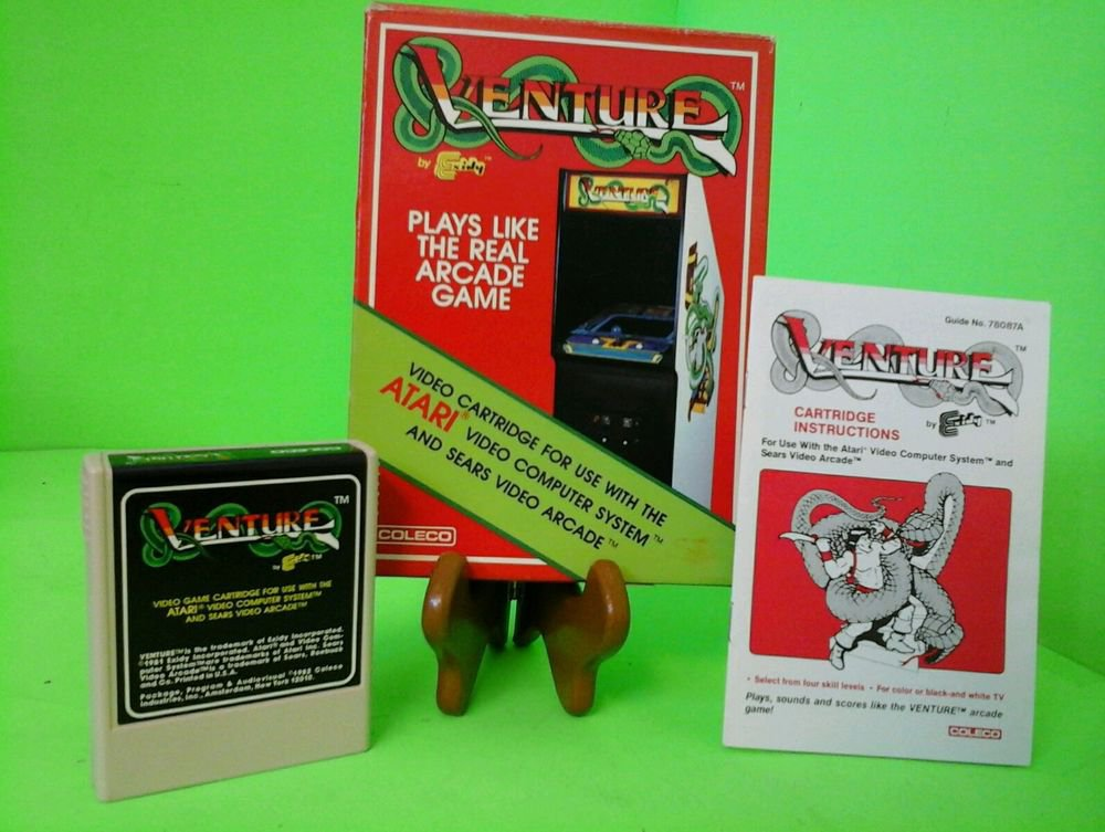 Venture (Coleco) in Box w/ Manual (Atari 2600) Experienced Seller FREE SHIPPING