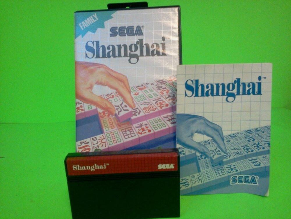 Shanghai  (Sega Master System 1988) COMPLETE w/ Box manual game WORKS!