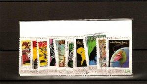 recent 2006 Australian rock posters stamp set