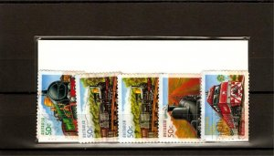 recent Australia 2004 trains stamp set