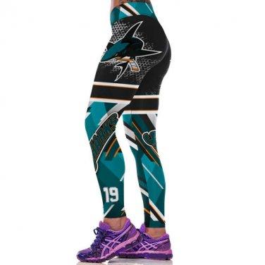 San Jose Sharks Joe Thornton Womens Leggings Fitness Gym 2017