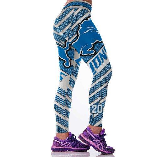 Detroit Lions  Barry SandersWomens Leggings Fitness Gym 2017