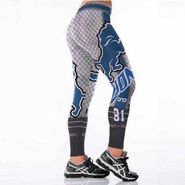 Detroit Lions.Calvin Johnson 81 Womens Leggings Fitness Gym 2017