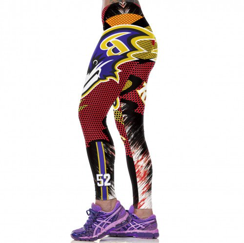 Baltimore Ravens Ray Lewis Womens Leggings Fitness Gym 2017