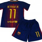 Neymar Jr #11 2017-2018 NEW FC Barcelona Home Jersey & Shorts for Kids
