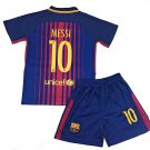 Messi #10 2017-2018 NEW FC Barcelona Home Jersey & Shorts for Kids