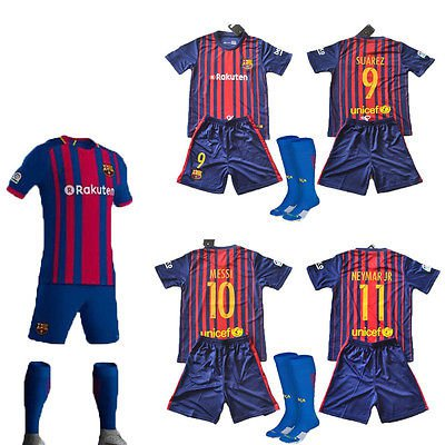 2017-2018 Neymar  Barcelona Home Nike Kids WITH SOCKS
