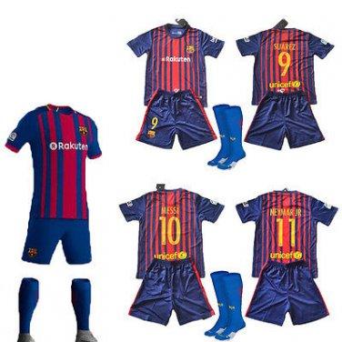 2017-2018 Neymar  Barcelona Home Nike Kids WITH SOCKS