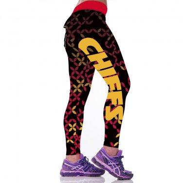 2017  Kansas City Chiefs  Print Women Leggings Fitness Sports Gym