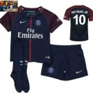 Neymar Jr # 10  Paris Saint-Germain Away Jersey with Shorts for Kids/Youth