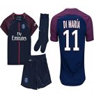 Di Maria Kid / Youth Paris Saint-Germain PSG FC 2017 /18  Home