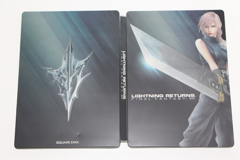 Xbox 360 Final Fantasy XIII: Lightning Returns STEELBOOK CASE AND SLEEVE NEW