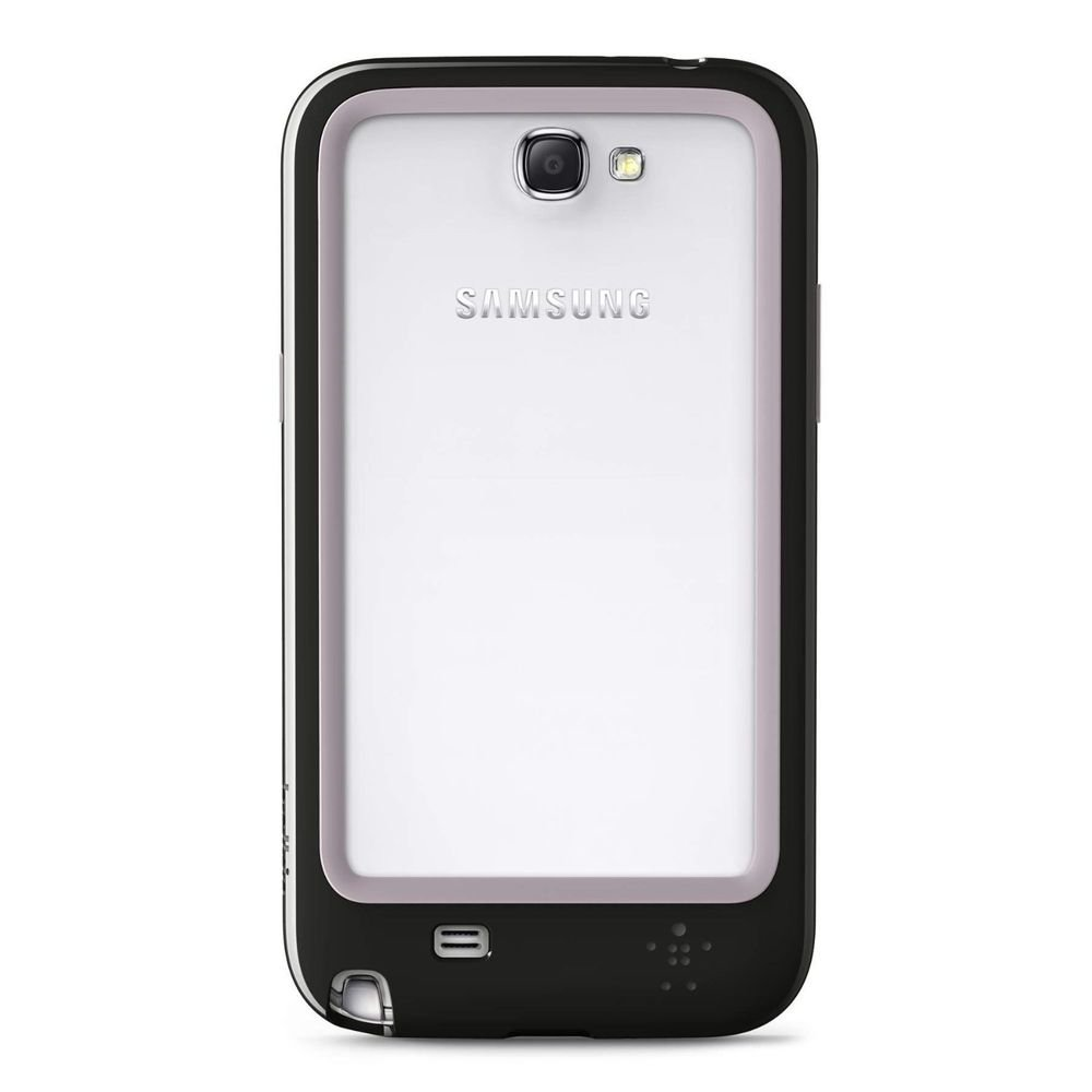 Belkin Surround Samsung Galaxy Note II 2 Case - 2 Layer Cover NEW BLACK/WHITE