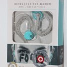 Yurbuds 10216 Wired  Ear-Hook Sports Headphones womens AQUA new
