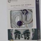 Yurbuds 10220 Wired  Ear-Hook Sports Headphones womens Focus Purple new