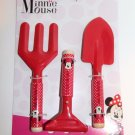 Disney Minnie Mouse Kids 3 piece Garden Tool Set METAL/WOOD NEW SHIPS SAME DAY